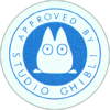 aproved by studio ghibli totoro chezfee boutique kawaii authentique bleu