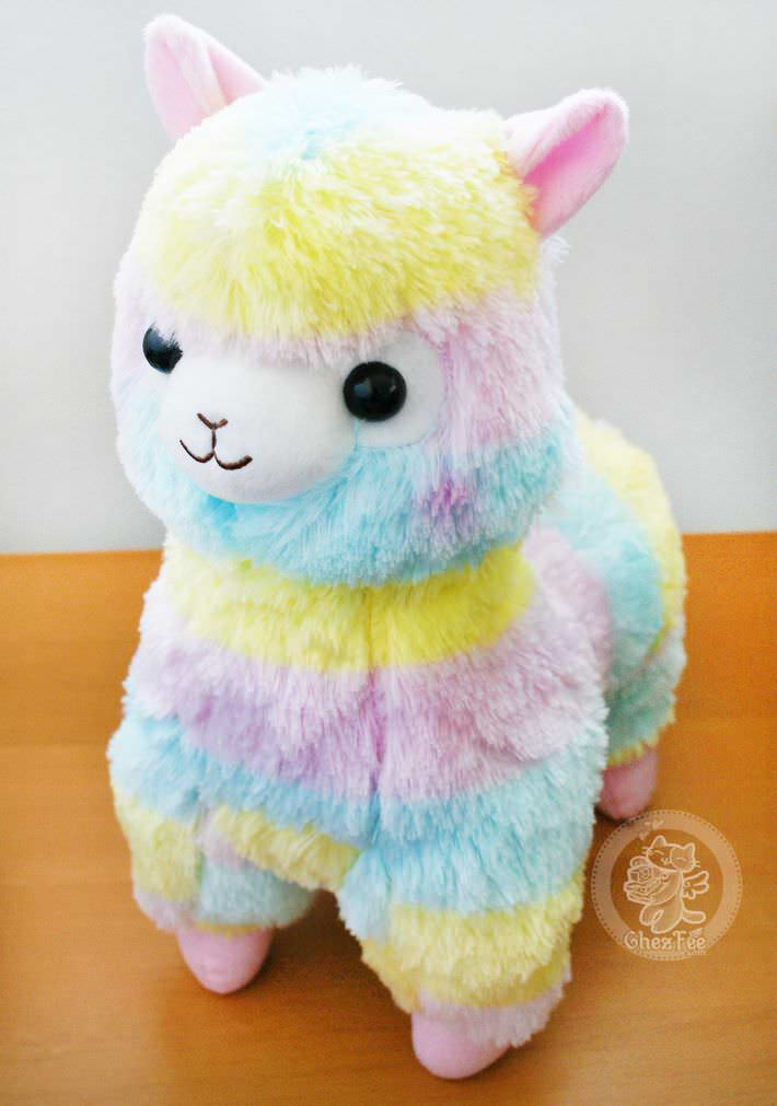 boutique kawaii lille shop en ligne mignon chezfee com peluche amuse japonais lama alpaga alpacasso rainbow grand authentique1