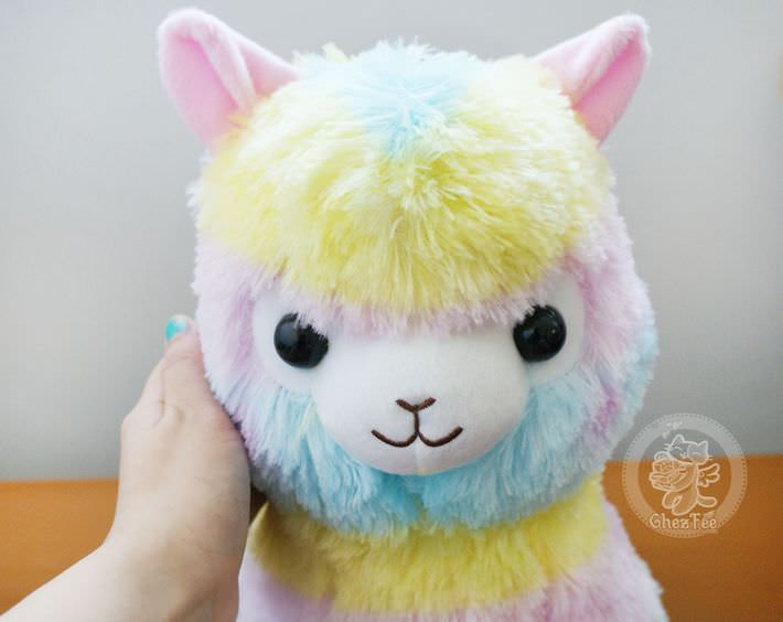 boutique kawaii lille shop en ligne mignon chezfee com peluche amuse japonais lama alpaga alpacasso rainbow grand authentique2