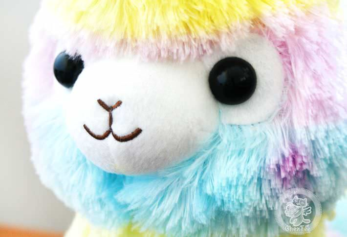 boutique kawaii lille shop en ligne mignon chezfee com peluche amuse japonais lama alpaga alpacasso rainbow grand authentique4