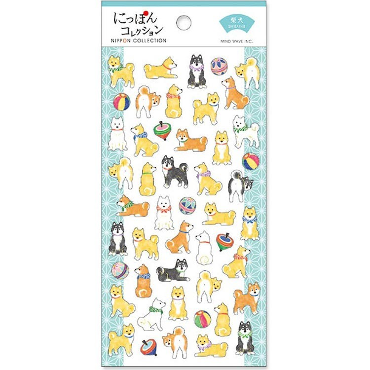 boutique kawaii shop chezfee stickers japonais washi shiba inu 1