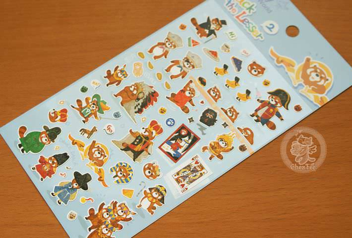 autocollant mignon sticker boutique kawaii shop cute chezfee com animal panda roux bleu1