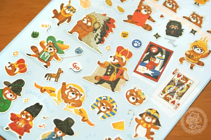 autocollant mignon sticker boutique kawaii shop cute chezfee com animal panda roux bleu2