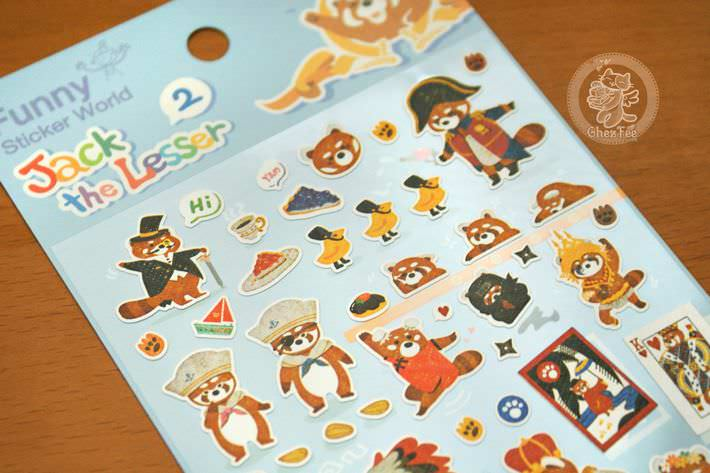 autocollant mignon sticker boutique kawaii shop cute chezfee com animal panda roux bleu3