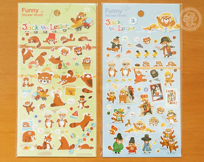 autocollant mignon sticker boutique kawaii shop cute chezfee com animal panda roux1