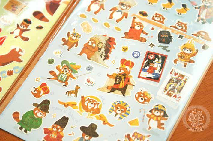 autocollant mignon sticker boutique kawaii shop cute chezfee com animal panda roux2