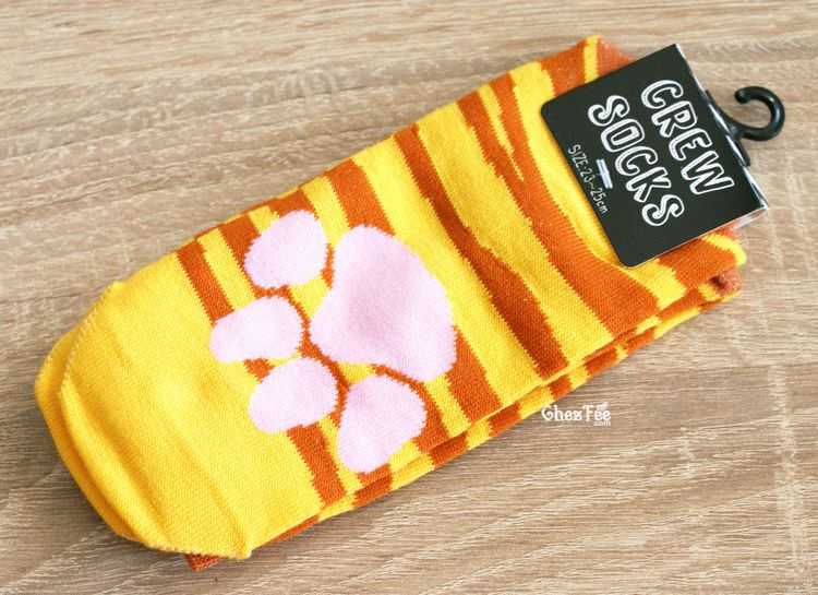 boutique kawaii shop cute chezfee chaussettes japonais patte chat tigre roux 1