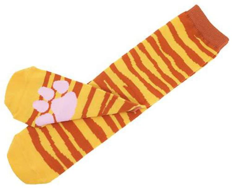 boutique kawaii shop cute chezfee chaussettes japonais patte chat tigre roux 2