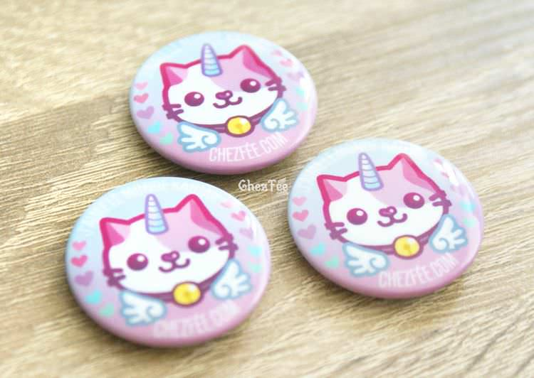 boutique kawaii chezfee cute shop badge chat licorne lolita pastel 1