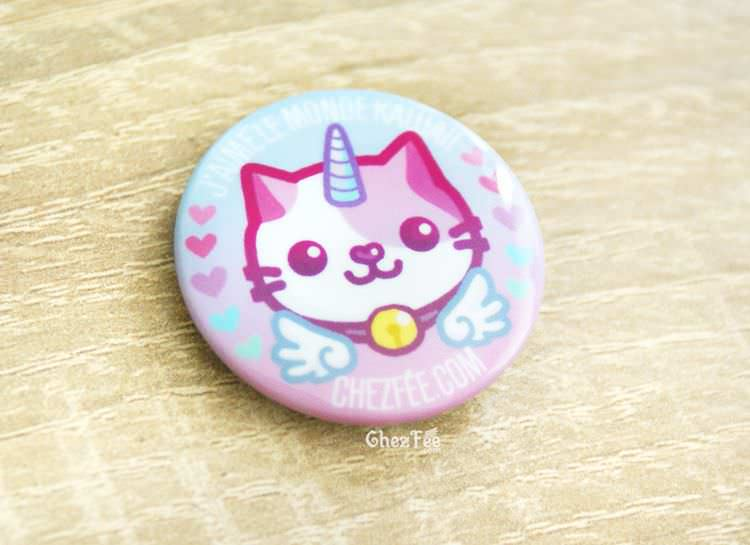 boutique kawaii chezfee cute shop badge chat licorne lolita pastel 2