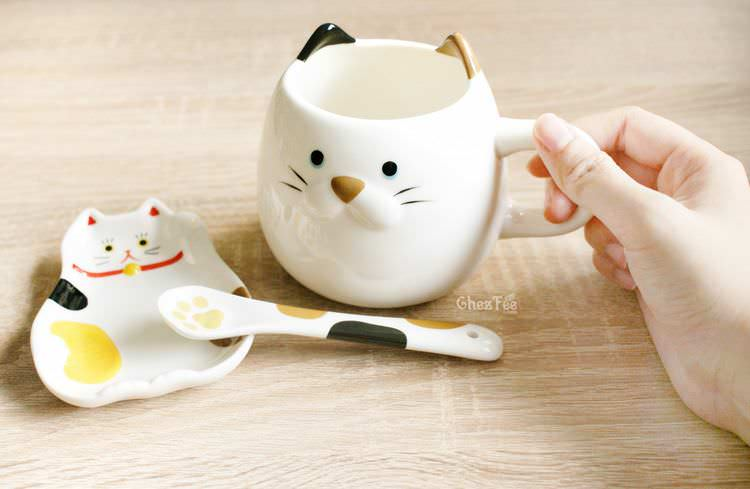 boutique kawaii shop chezfee decoration cuisine japonaise chat maneki neko assiette tasse cuillere 2