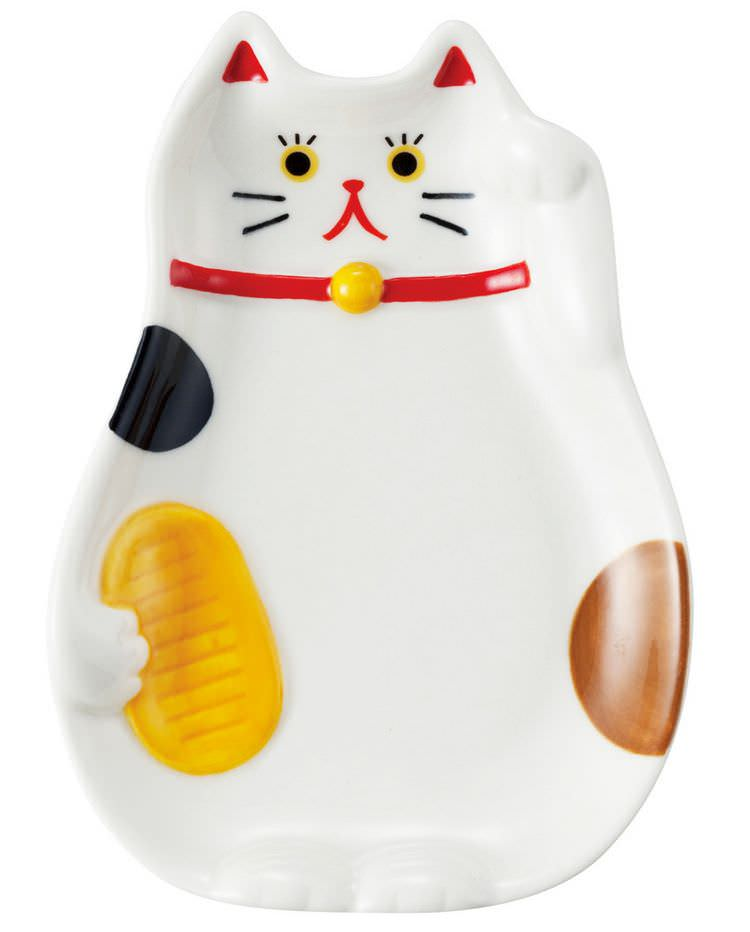 boutique kawaii shop chezfee decoration cuisine japonaise mignon chat maneki neko assiette 1