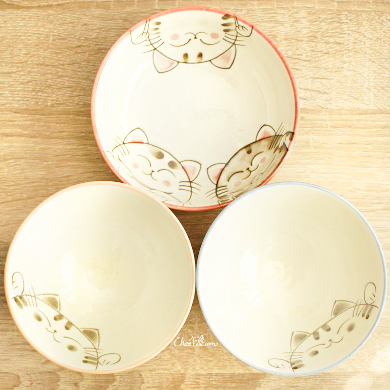boutique kawaii shop chezfee vaisselle japonaise kawaii traditionnelle maneki neko bol 1