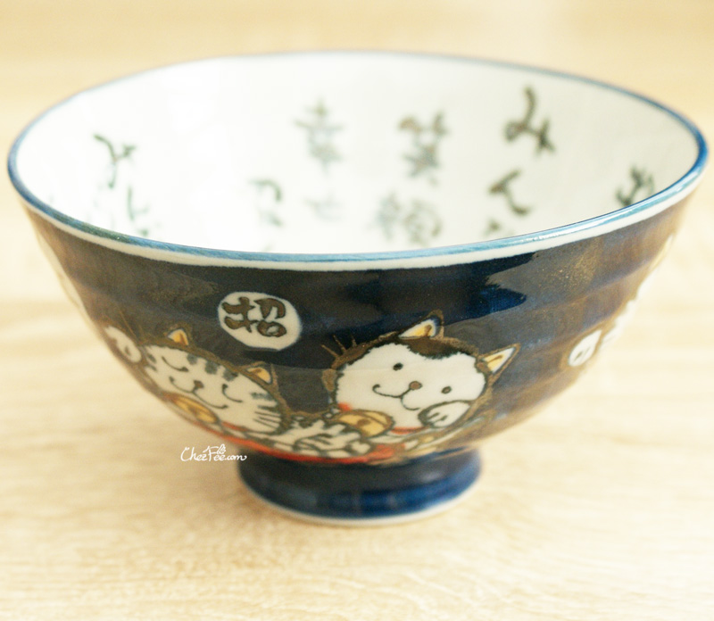 boutique kawaii shop chezfee vaisselle japonaise kawaii traditionnelle manekineko petit bol bleu 1