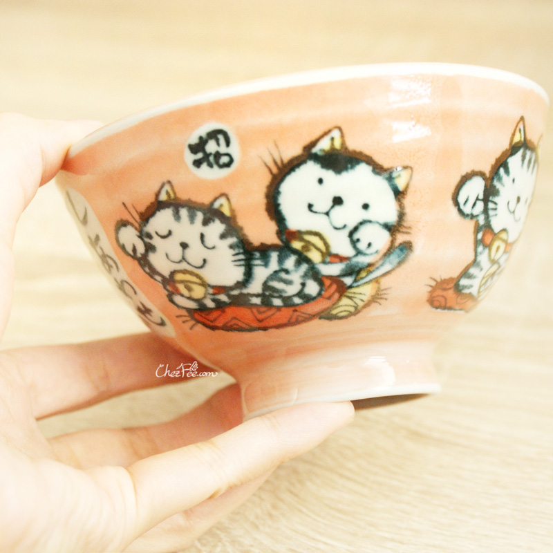 boutique kawaii shop chezfee vaisselle japonaise kawaii traditionnelle manekineko petit bol orange 4