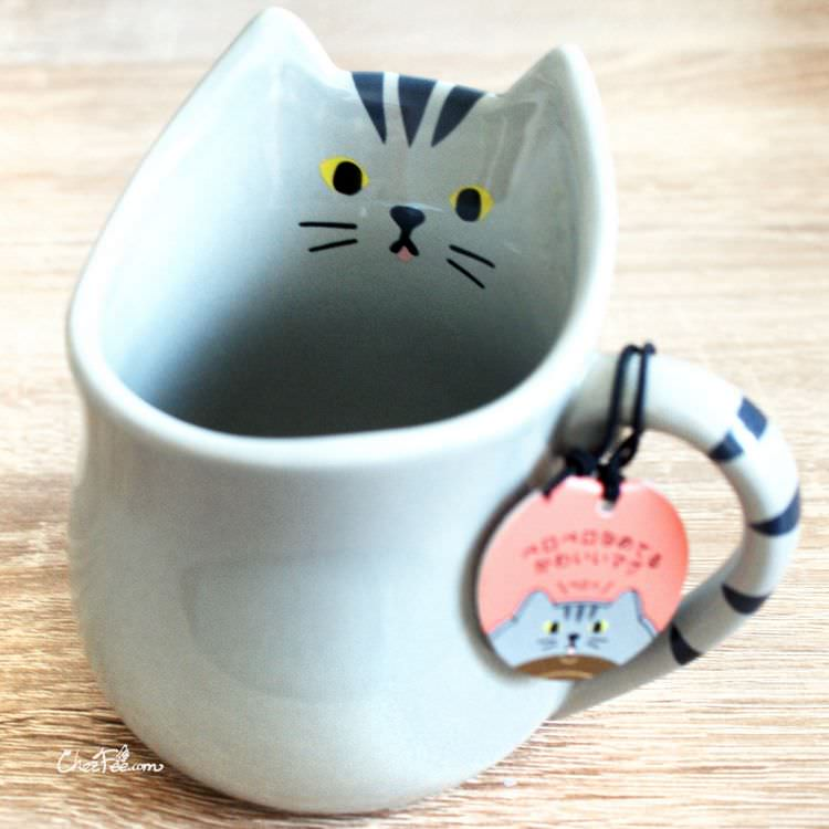 boutique kawaii shop chezfee cuisine neko chat mug tasse tigre gris 1