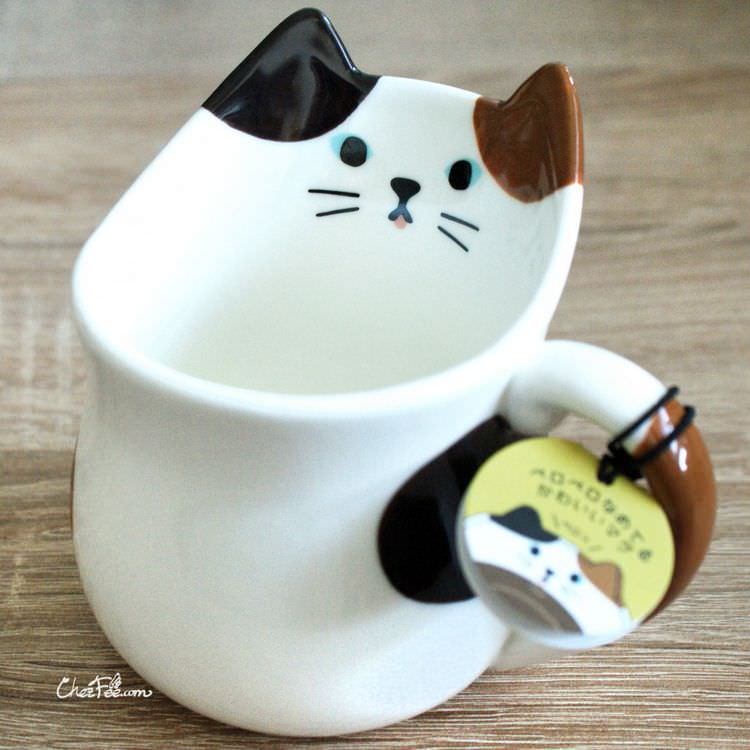 boutique kawaii shop chezfee cuisine neko chat mug tasse tricolore 1