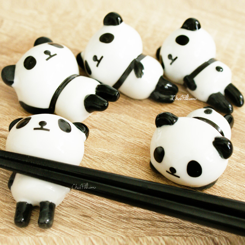 boutique kawaii shop chezfee repose baguette japonais ceramique lot panda rond 2