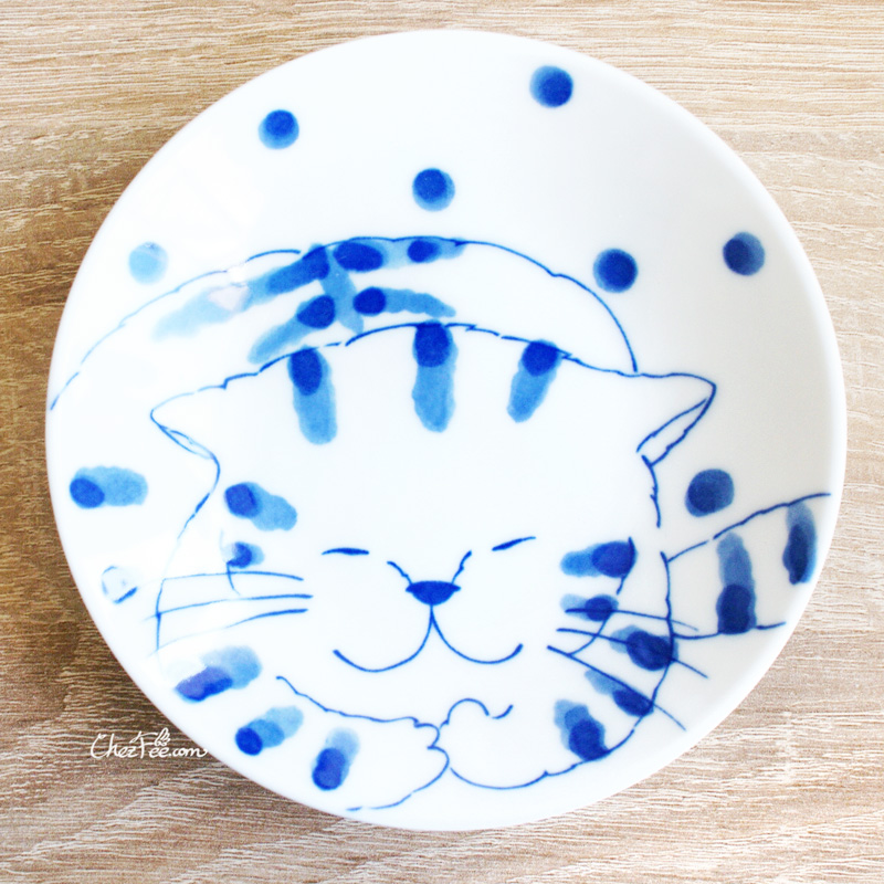 boutique kawaii shop chezfee vaisselle japonaise kawaii assiette traditionnelle chat tigre 1