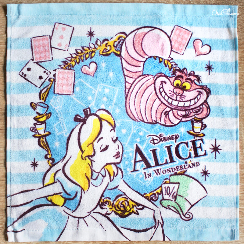 boutique kawaii shop chezfee disney japan wonderland alice pays merveilles serviette towel 1