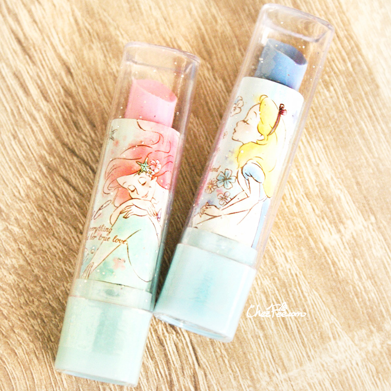 boutique kawaii shop chezfee taille crayon kawaii disney japan gomme rouge levre ariel alice