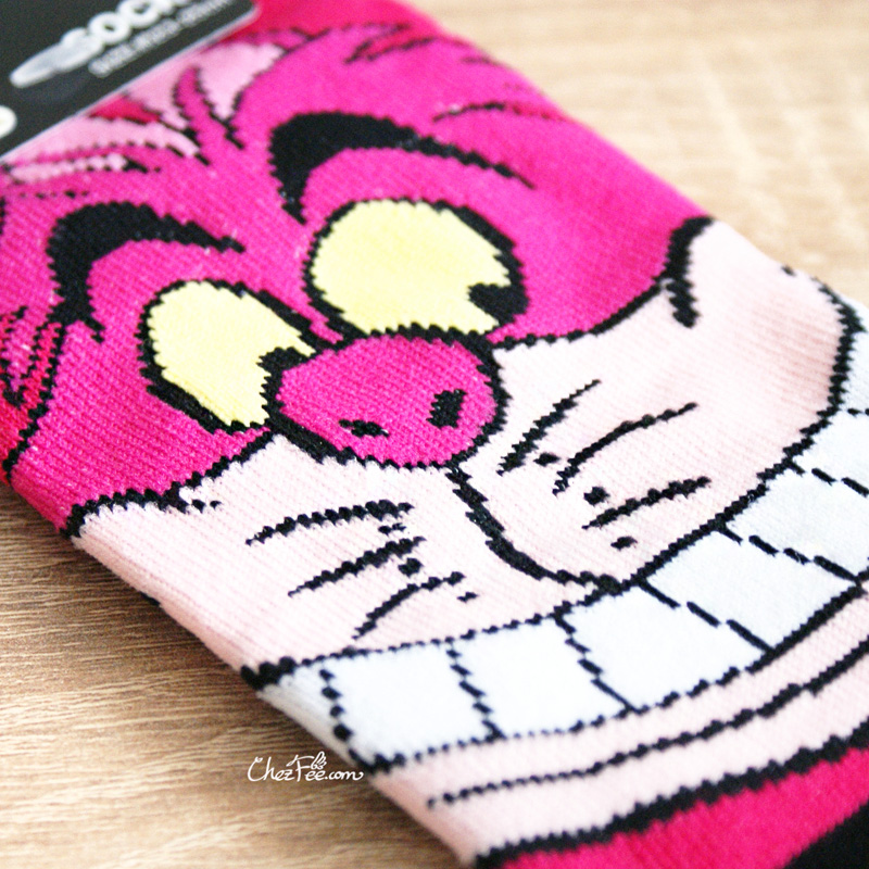 boutique kawaii shop chezfee chaussettes disney japan alice wonderland pays merveilles cheshire chat 3