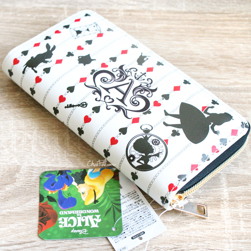 boutique kawaii shop chezfee portefeuille purse disney japan alice wonderland pays merveilles 2