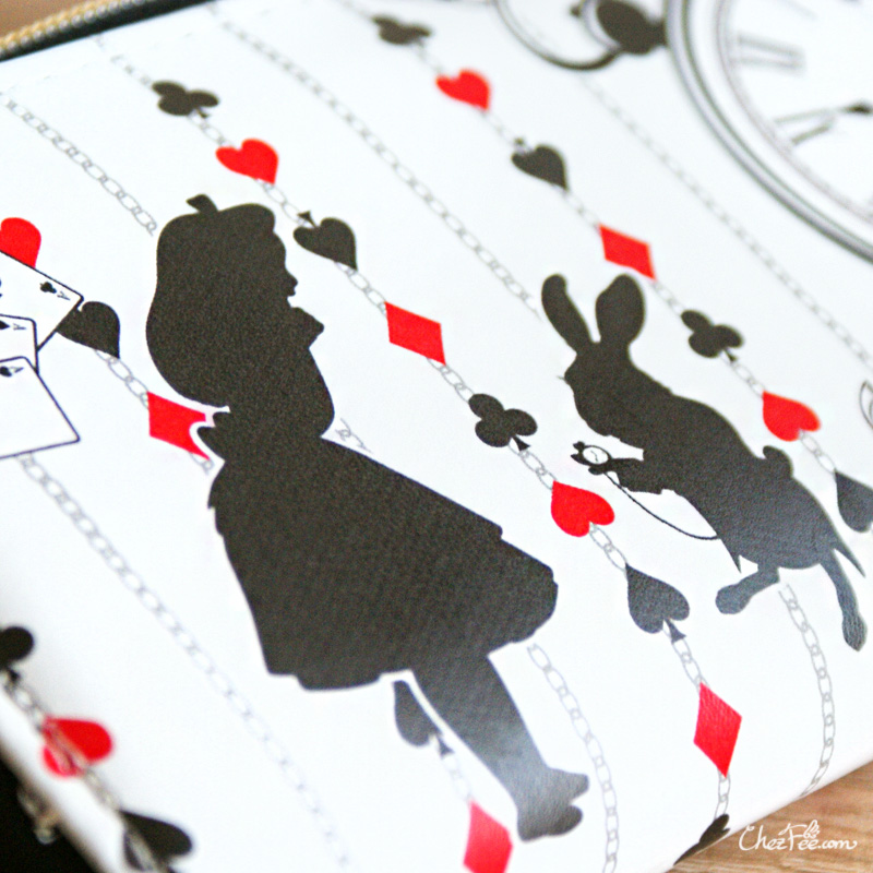 boutique kawaii shop chezfee portefeuille purse disney japan alice wonderland pays merveilles 6