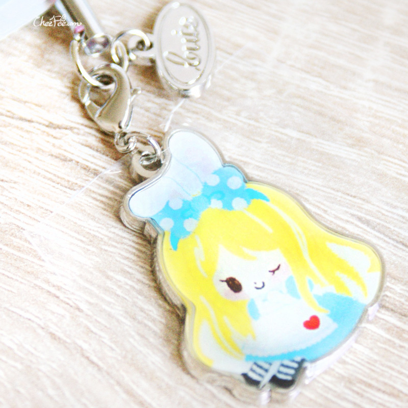 boutique kawaii shop chezfee disney japan charm strap alice wonderland pays merveilles chibi 2