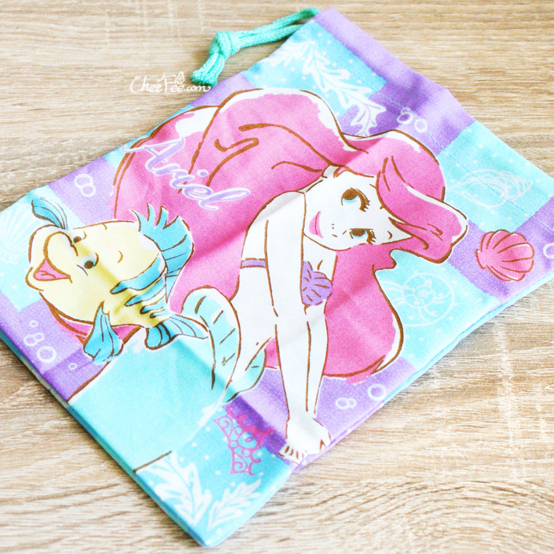 boutique kawaii shop chezfee disney japan pochon sac vrac coton ariel princesse 4