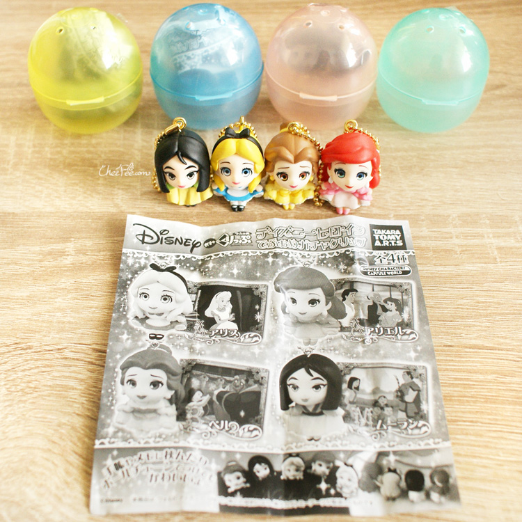 boutique kawaii shop chezfee gashapon figurine porte clef clip chibi disney princesses 1