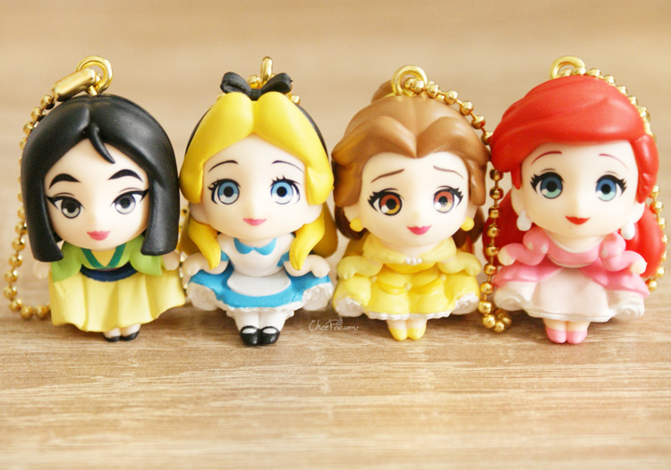 boutique kawaii shop chezfee gashapon figurine porte clef clip chibi disney princesses 2