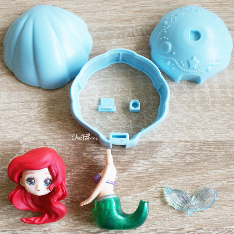 boutique kawaii shop chezfee gashapon figurine disney princesses posket heroine doll ariel sirene 3