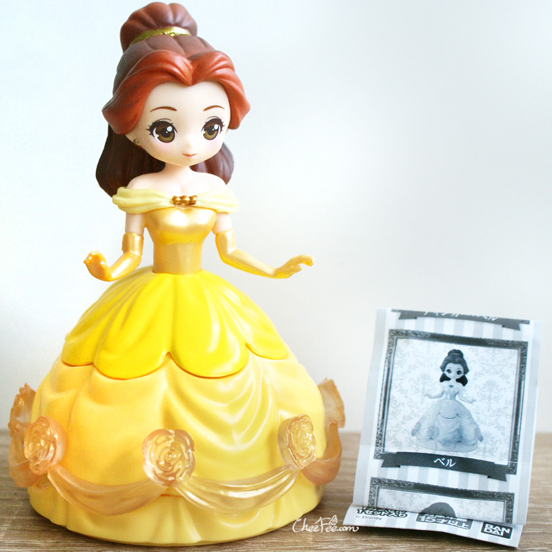 boutique kawaii shop chezfee gashapon figurine disney princesses posket heroine doll belle robe 1