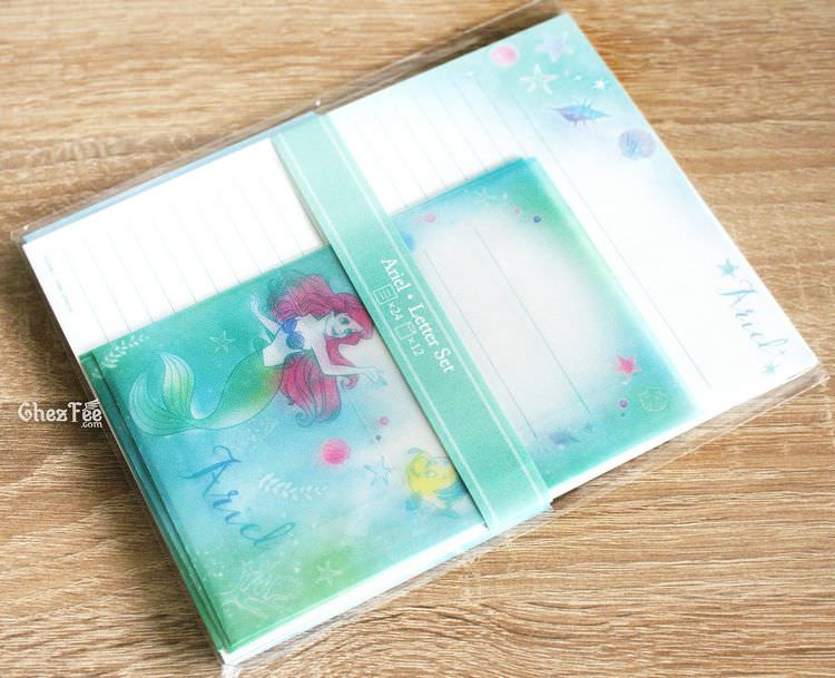 boutique kawaii shop chezfee disney japon papeterie papier lettre ariel 1
