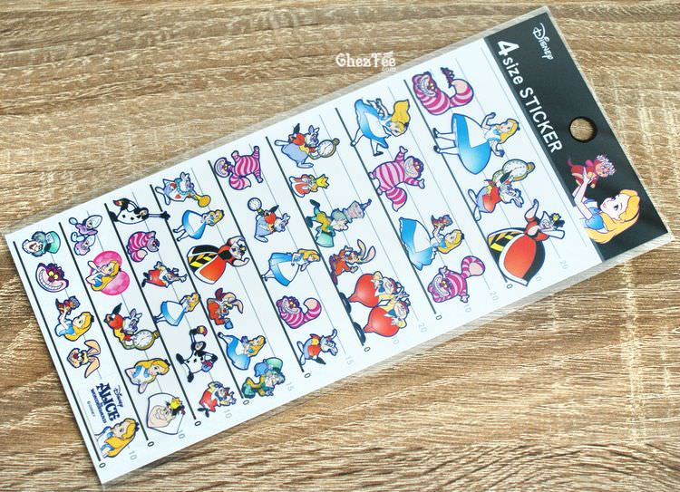 boutique kawaii shop disney japan chezfee sticker alice pays merveilles 4tailles 1