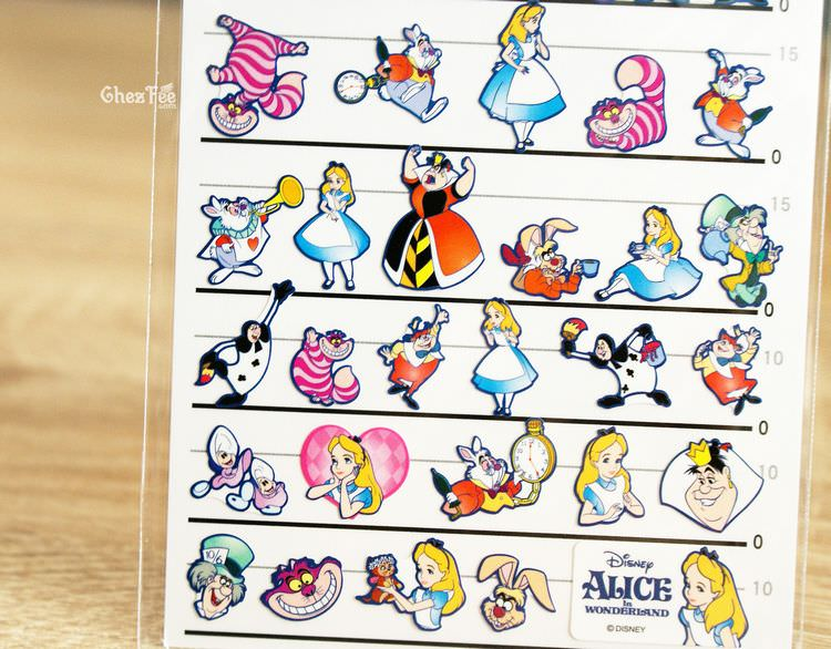 boutique kawaii shop disney japan chezfee sticker alice pays merveilles 4tailles 3