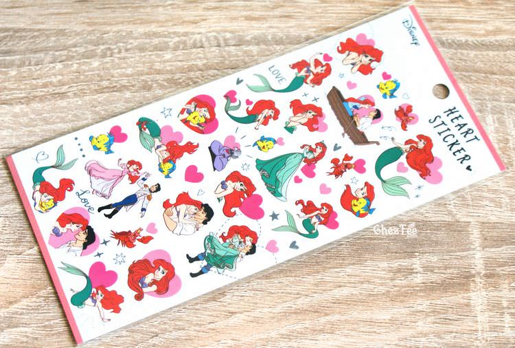 boutique kawaii shop disney japan chezfee sticker ariel 4tailles amour 1