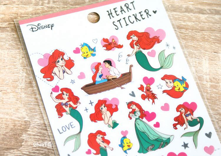 boutique kawaii shop disney japan chezfee sticker ariel 4tailles amour 2