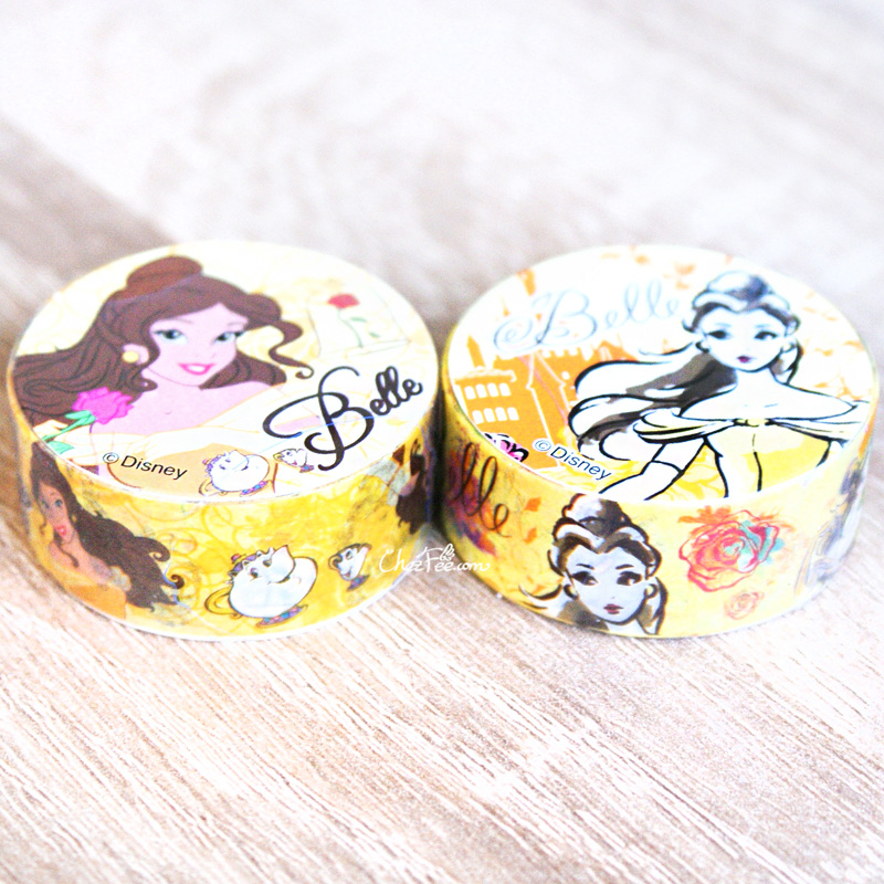 boutique kawaii shop chezfee disney japan princesses masking tape sticker belle bete 1
