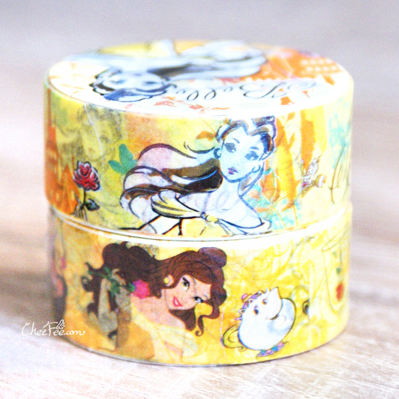 boutique kawaii shop chezfee disney japan princesses masking tape sticker belle bete 2