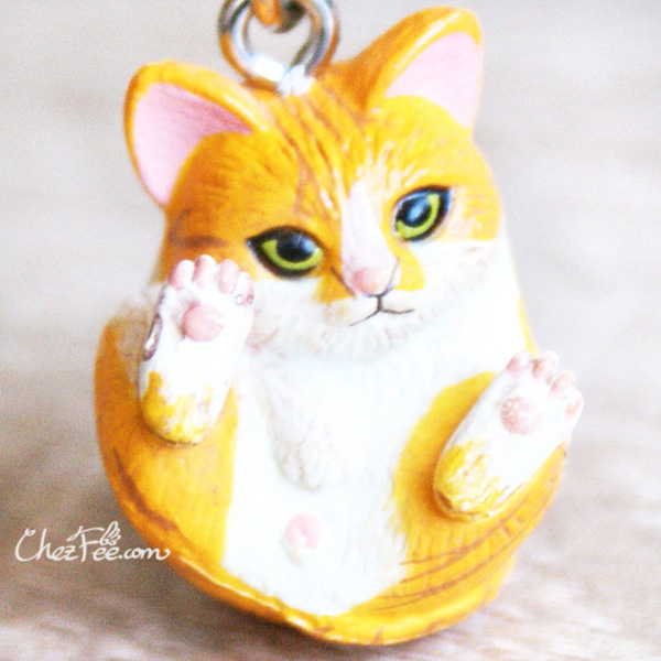boutique kawaii shop chezfee object gashapon blindbox chat roule rond roux tigre 1