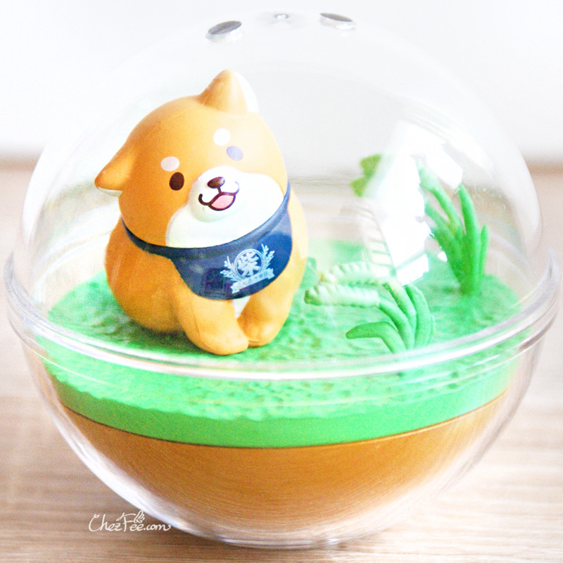 boutique kawaii shop chezfee gashapon figurine japonais mochi shiba inu seasonal terrarium printemps 2