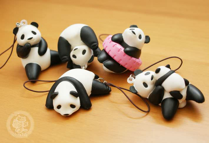 boutique kawaii shop france chezfee com gachapon strap porteclef panda squishy4