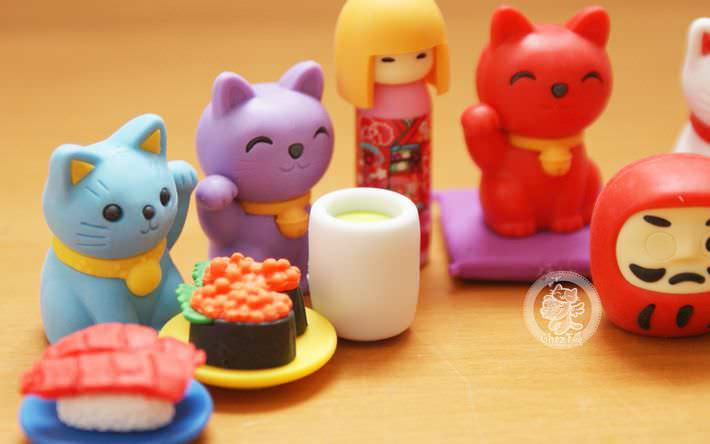 boutique kawaii shop france chezfee com cute papeterie gomme eraser iwako japan japon nouvel an kokeshi manekineko 4