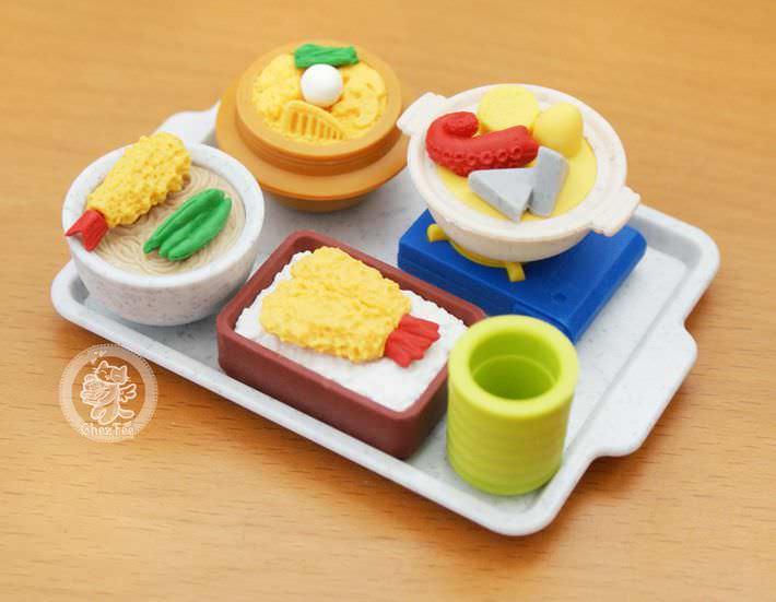 Kawaii pen eraser ruler set de 6 gommes japonaises - Cuisine japonaise sante ...