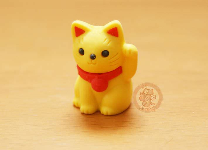 boutique kawaii shop france chezfee com cute papeterie gomme eraser iwako japan japon manekineko jaune1