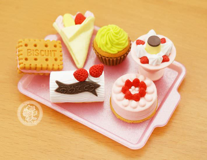 boutique kawaii shop france chezfee cute papeterie gomme eraser iwako japon food patisserie3