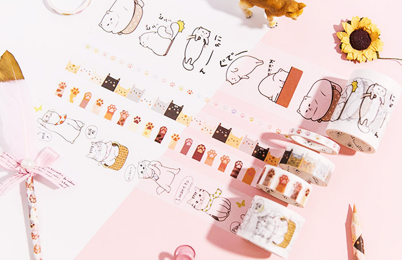 boutique kawaii shop chezfee fourniture papeterie washi masking tape chat lot 7