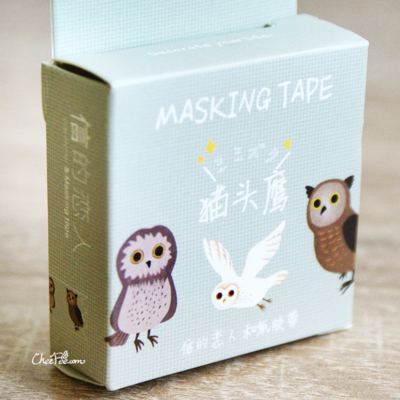 boutique kawaii shop chezfee fourniture papeterie washi masking tape hiboux choette 1